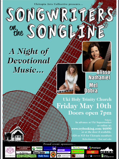 songwriters  on the Songline with Mel Dobra and Alissa Nathaniel